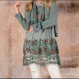 NWT Simply Couture Green Tunic / Dress        A119